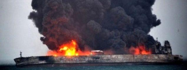 گزارش یک روزنامه آمریکایی از علت تصادف و غرق شدن نفتکش ایرانی